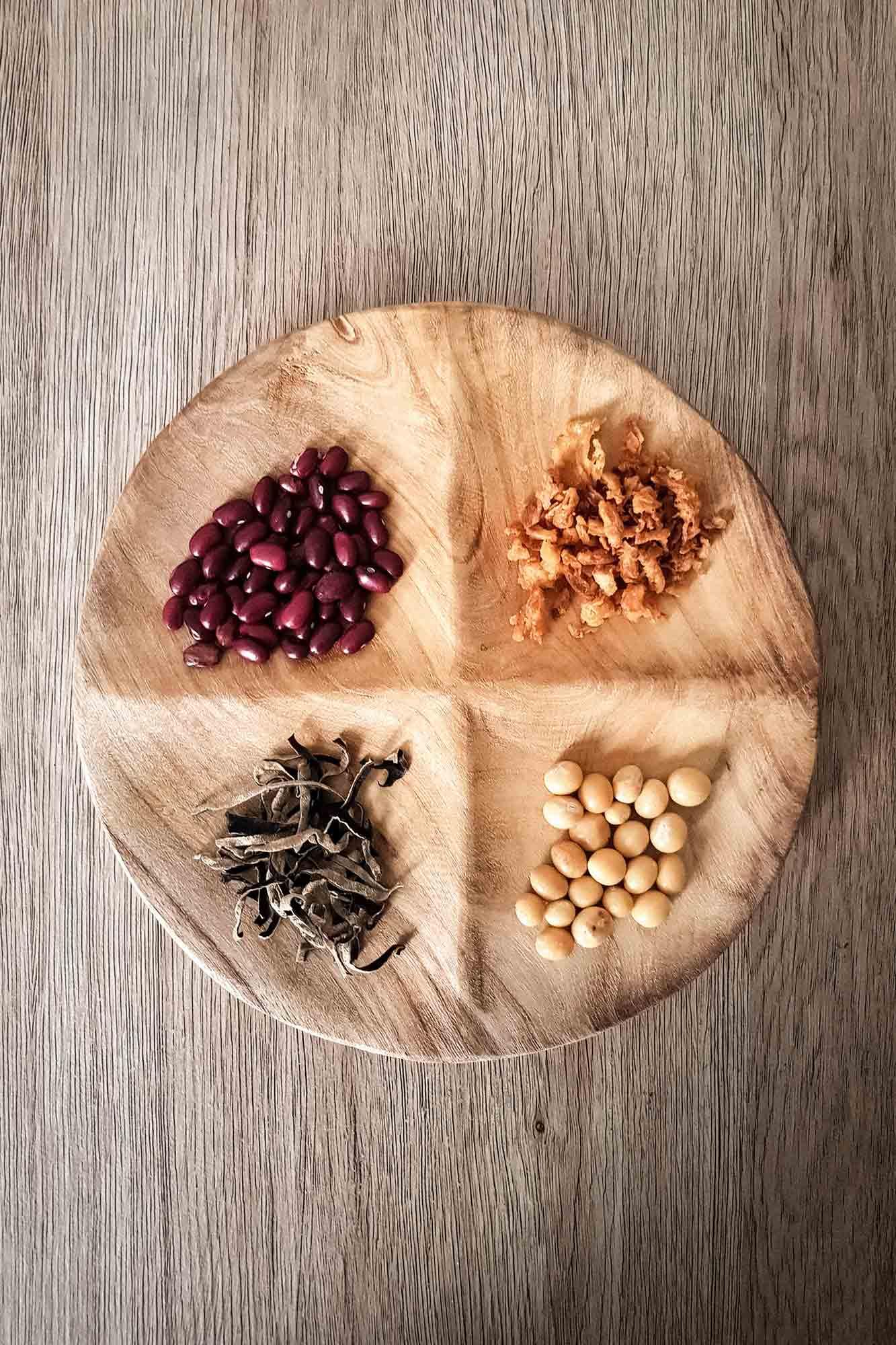 assiette apéritif ronde en bois