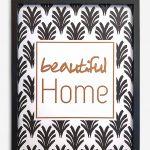 """""""Beautiful home"""" couleur noir"""