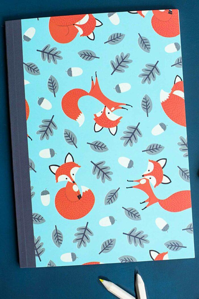 "carnet de notes ""rusty the fox"" format A5 fermé"