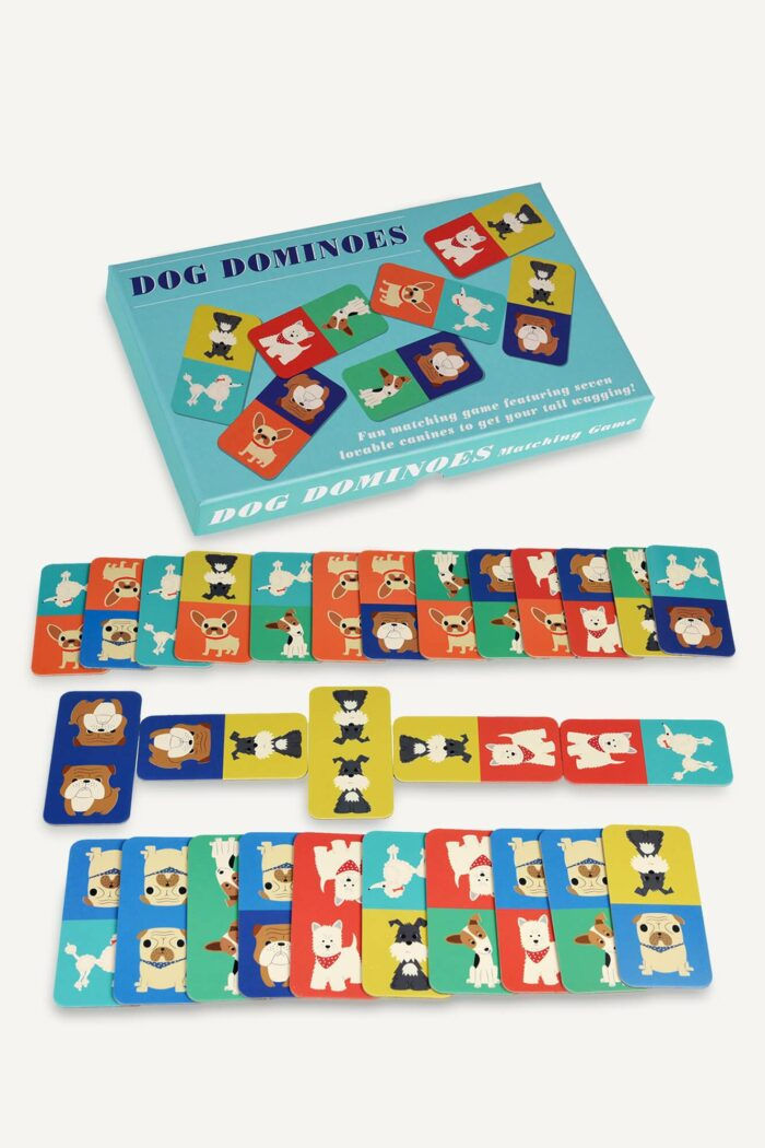 jeu de dominos motif chiens