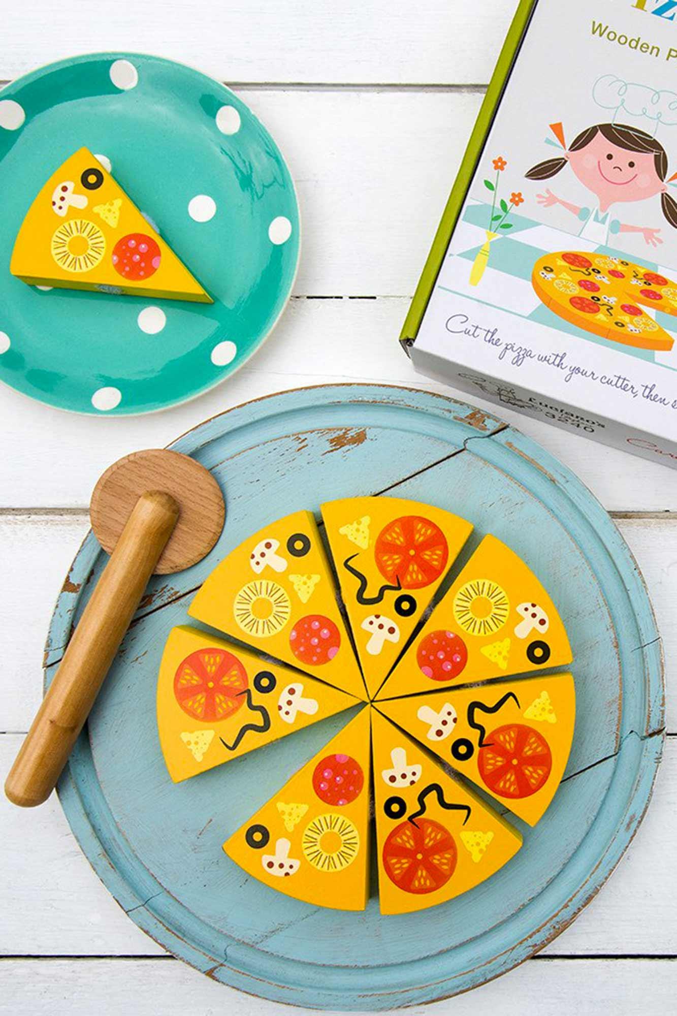 jeu pizza pour enfant en bois