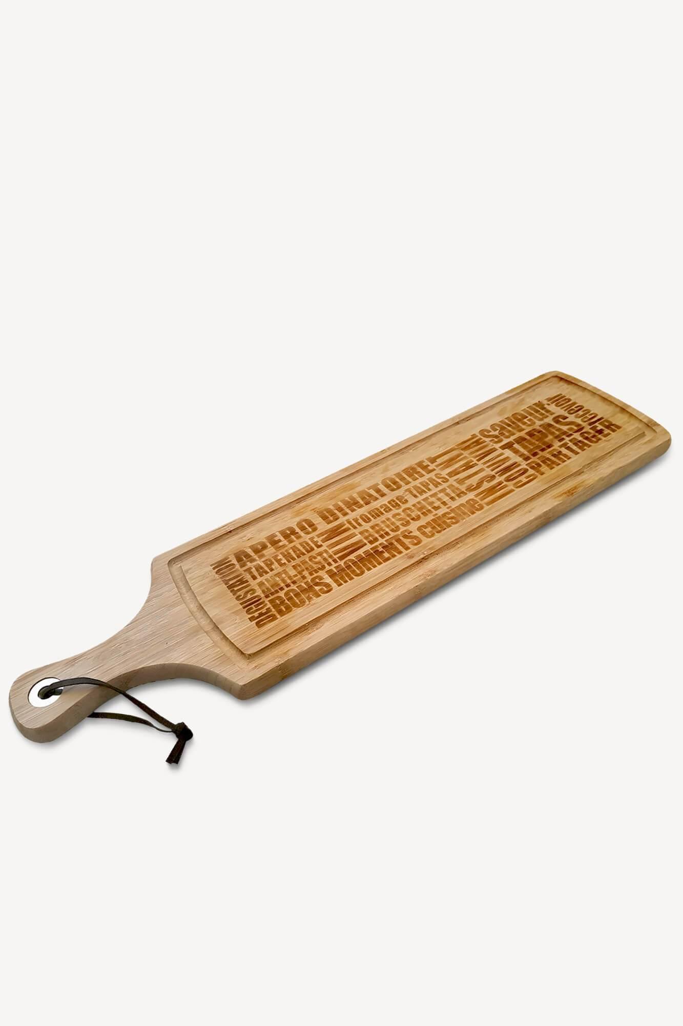 planche à découper en bambou avec motifs